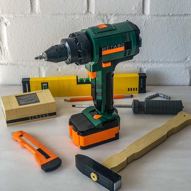 My own creation of a Metabo electric drill.