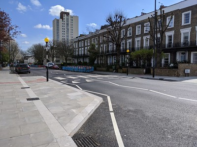 Zebra crossing shown from north side of PoW