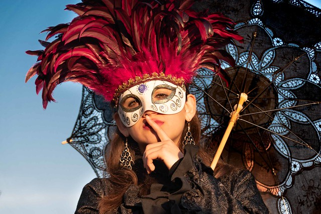 Pssst. Don't tell anyone that I came to the Carnival of Venice during the Coronavirus scare.