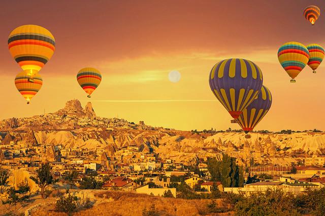 Uçhisar'a Uçan Balonlar