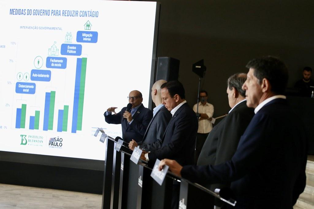 Coletiva do governador João Doria anunciando renovação da quarentena no dia 06 de abril de 2020