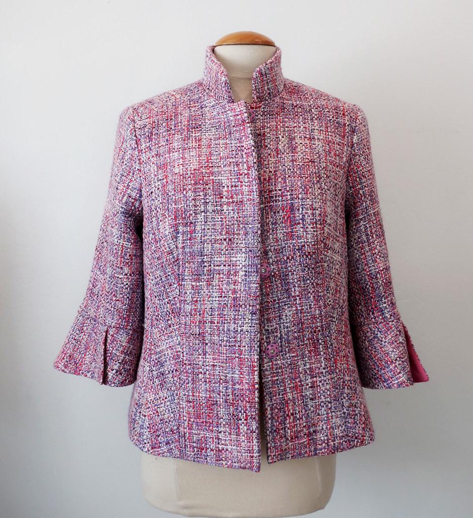 Pink jacket front on form