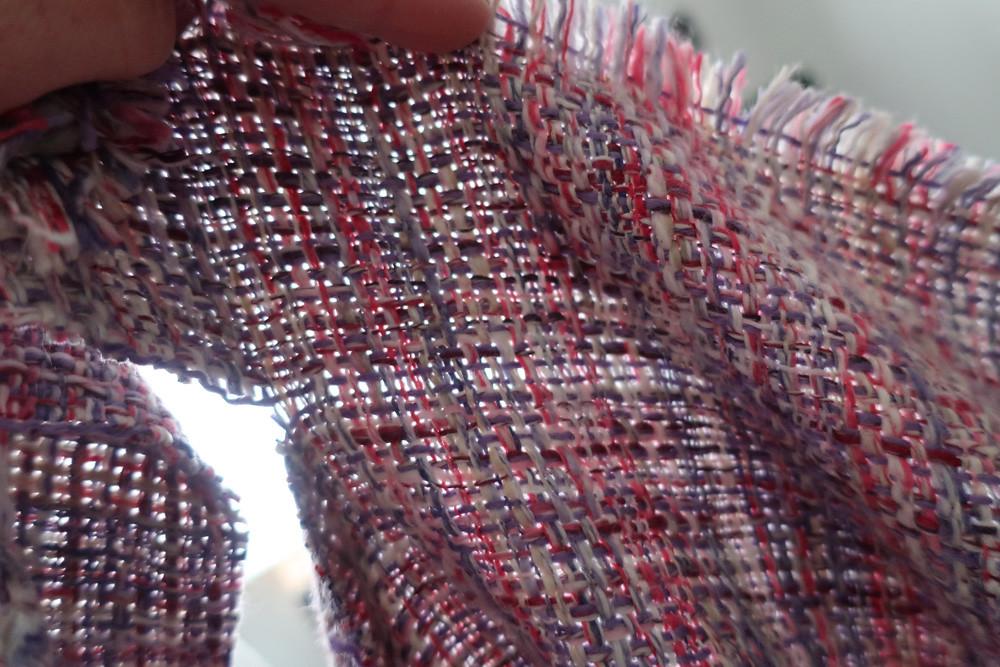 Pink jacket fabric sample