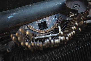 Details shot of an old defective type writer | by Ivan Radic
