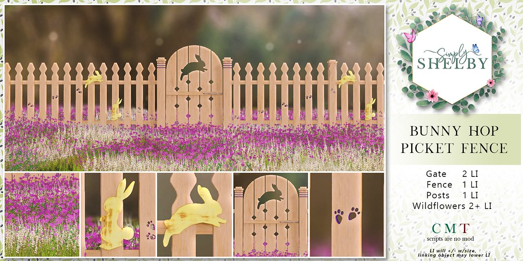 Simply Shelby Bunny Hop Picket Fence