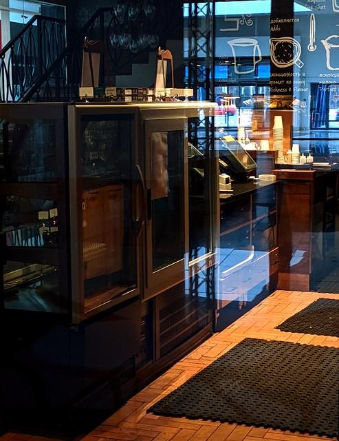 Lockdown of a coffee shop