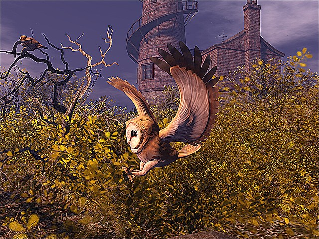 Lighthouse Imagination - Barn Owl In Flight