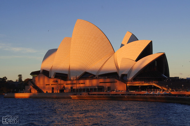 Sunset on Sydney's Opera House