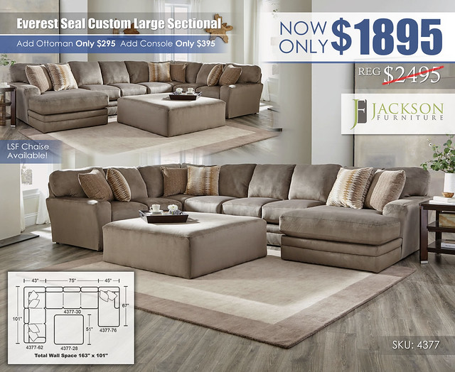 Everest Seal Large Custom Sectional_4377_Jackson Catnapper_update