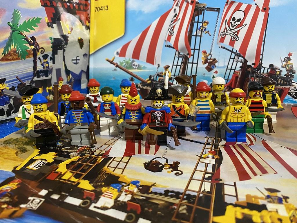Pirate Captain White Tash Thompson & Crew wide shot