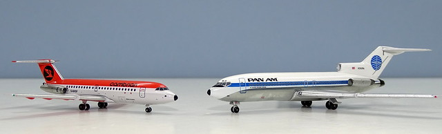 Pan Am Boeing 727-21 vs Cambrian Airways BAC One-Eleven