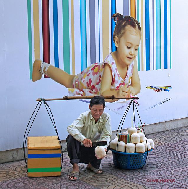baby & coconut seller
