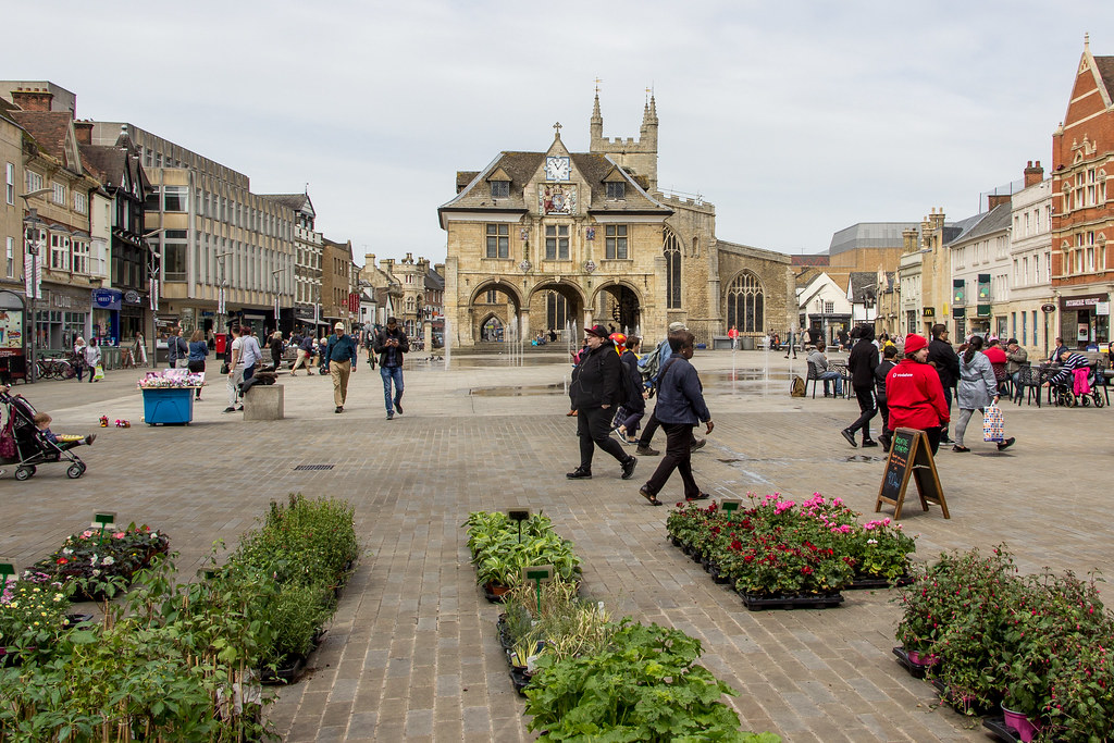 Cathedral Square, Peterborough, England