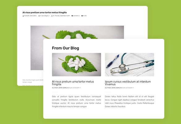 4.Blog Module Included-Anti Covid Free Prestashop Medical Template