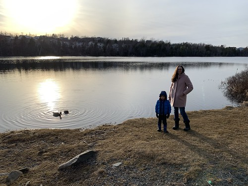 Amy and Ezra at Settle Lake