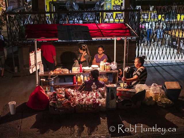 Street Sellers at Night