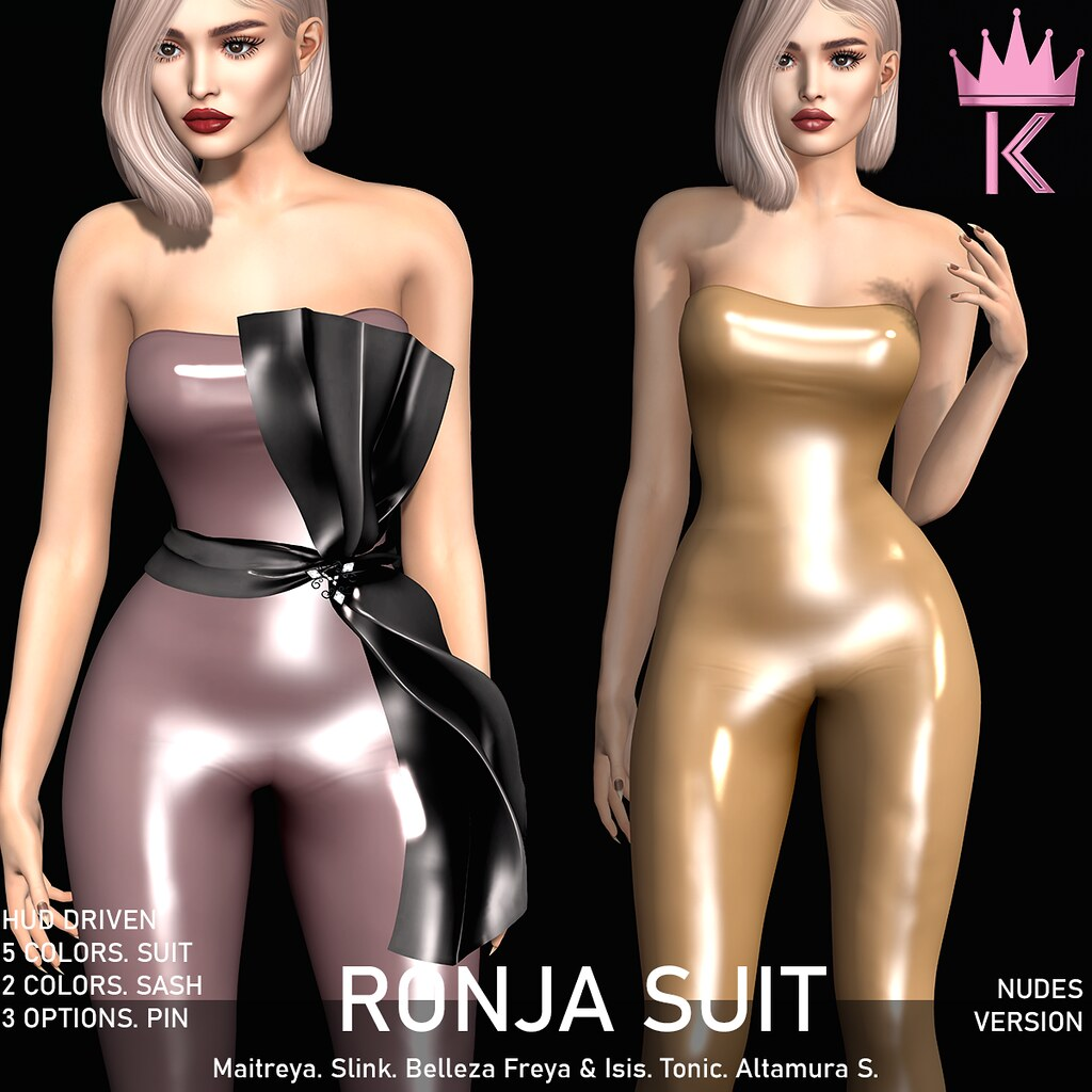 .KIMBRA. – RONJA LATEX SUIT [NUDES]