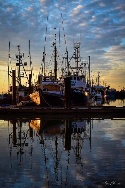 Steveston Fishing Village - Steveston Harbour Reflections