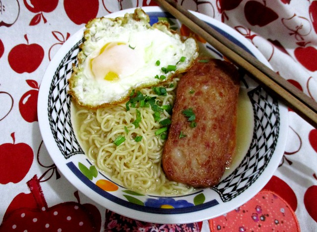 Myojo instant noodles, chicken abalone flavour