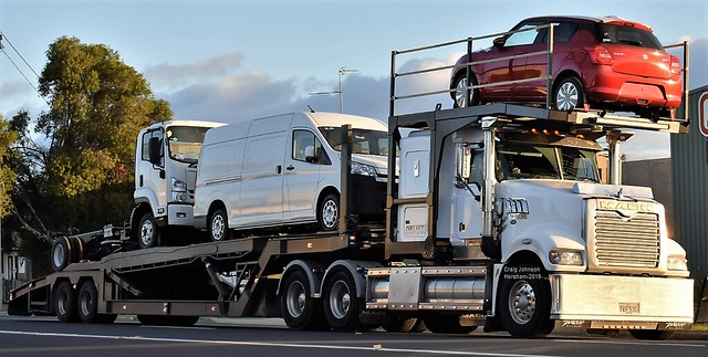 Mack Trident Car Hauler at Horsham