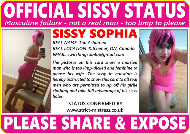ID Card of Indian Sissy Sophia Kitchener Ontario Canada 09