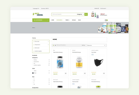 6.Product Page-Anti Covid Free Prestashop Medical Template