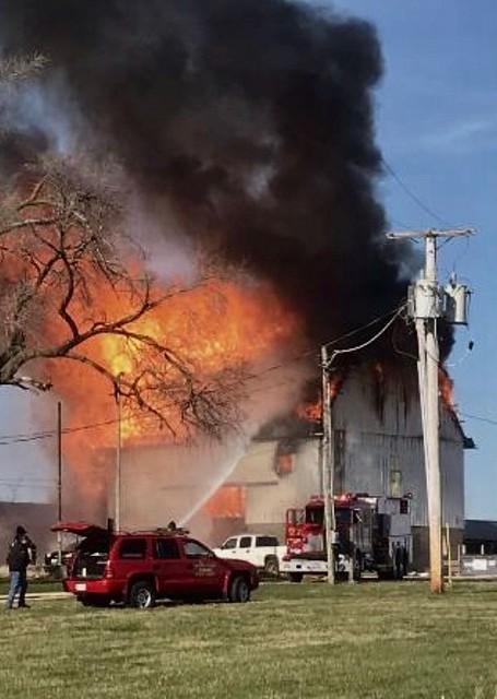 Barn Fire, Kirkland, Illinois
