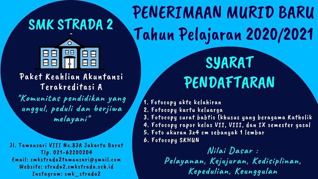 INFORMASI PENDAFTARAN MURID BARU SMK STRADA II