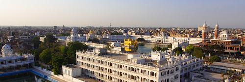 Panorama sur Amritsar et le Temple d'Or - Pendjab, Inde