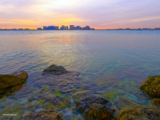 Cloudy sea spring sunrise ... شــروق بحري غائــم هنا البحــرين