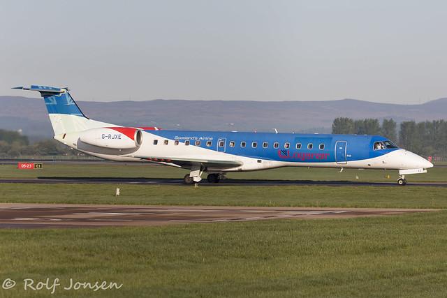 G-RJXE Embraer 145 Loganair Glasgow airport EGPF 11.05-19