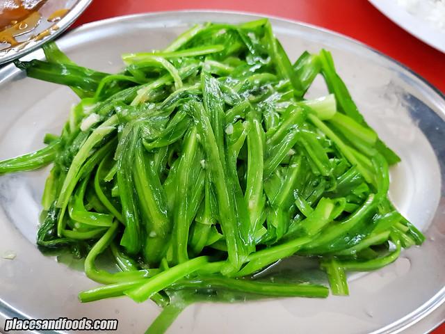restoran xin kee steam fish green dragon vege