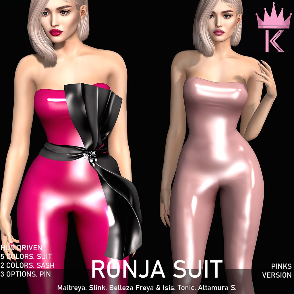 .KIMBRA. – RONJA LATEX SUIT [PINKS]