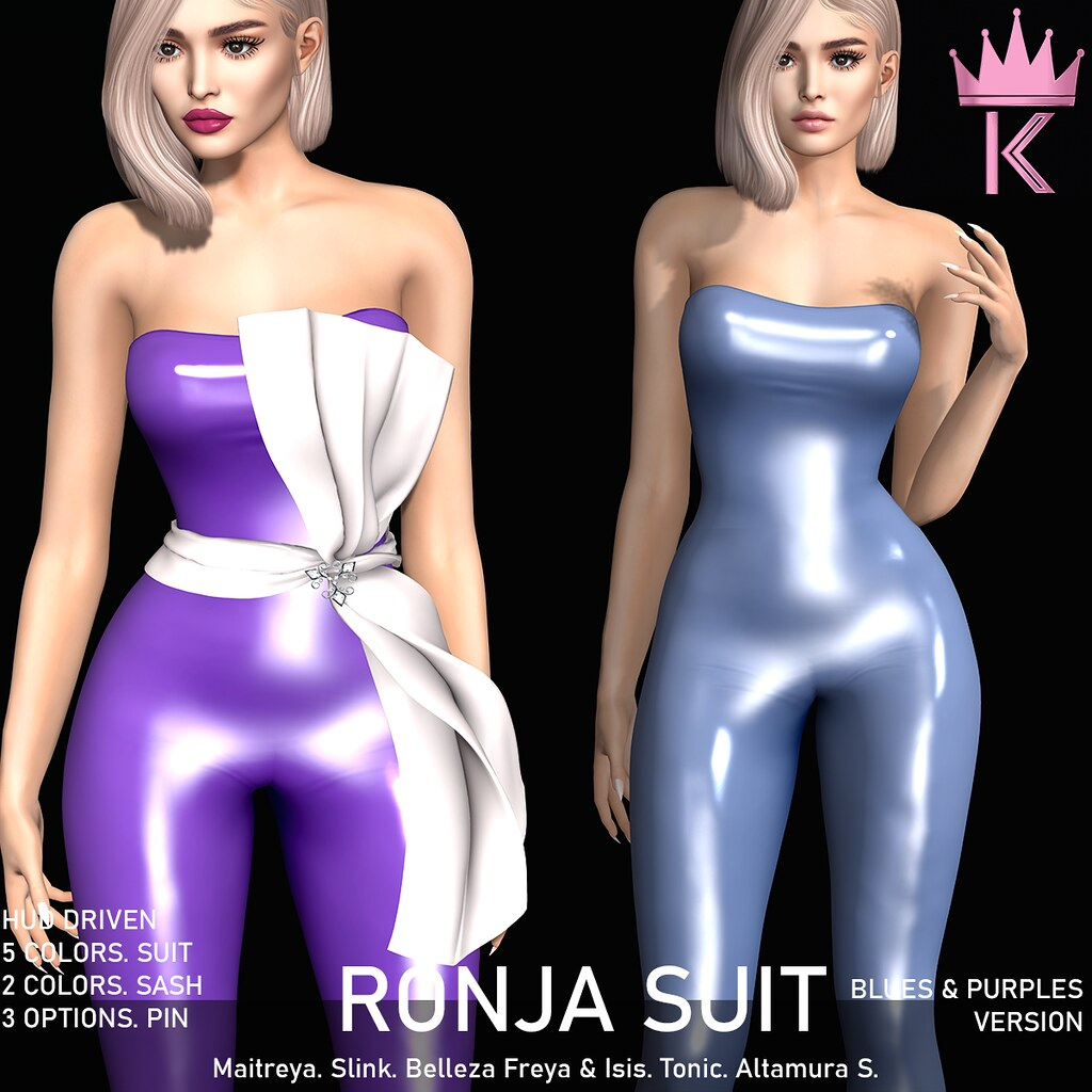 .KIMBRA. – RONJA LATEX SUIT [BLUES & PURPLES]
