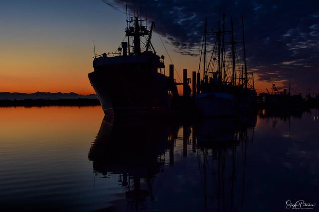 Steveston Fishing Village - Steveston Harbour Sunset