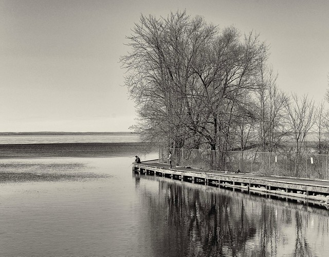 Fishing in Lake Simcoe