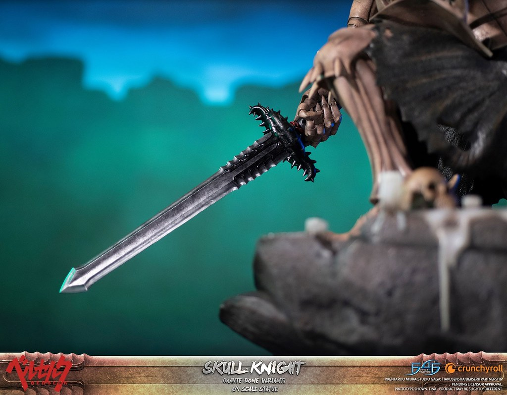 大魄力援軍降臨!First 4 Figures《烙印勇士》骷髏騎士 1/4比例全身雕像(BERSERK - SKULL KNIGHT)黑白 標準版/獨家版/終極版