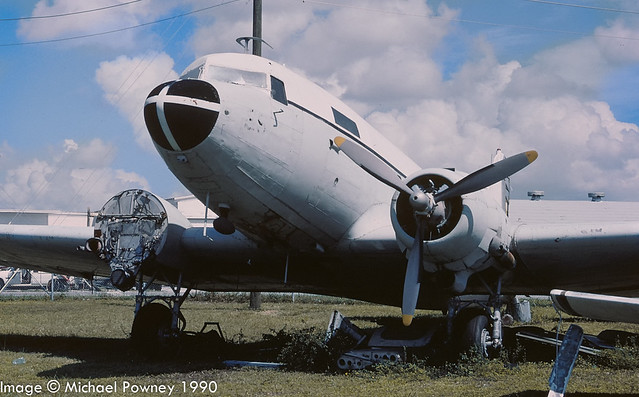 N8099 - 1944 build Douglas C-47B Dakota, scrapped on site at Opa Locka in 2004