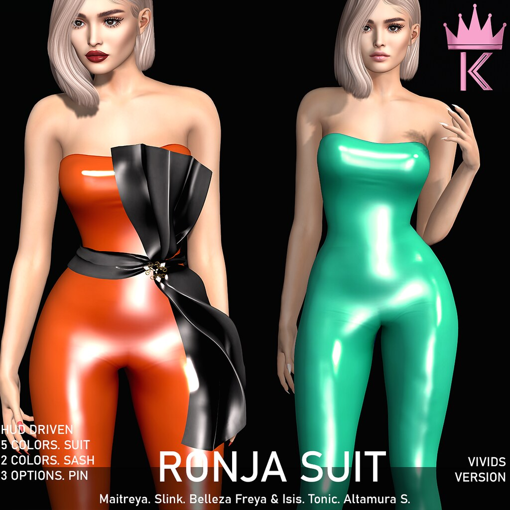 .KIMBRA. - RONJA LATEX SUIT [VIVIDS]