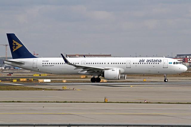 Air Astana Airbus A321-271N P4-KDF FRA 28-02-20
