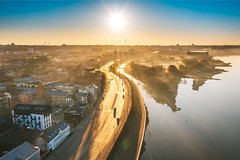 Foggy morning | Kaunas aerial