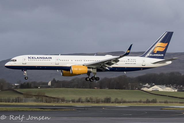 TF-FIO Boeing 757-200 Icelandair Glasgow airport EGPF 09.02-19