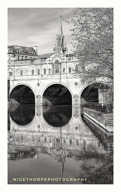 Water only reflects what it's been shown....Pulteney Bridge, Bath