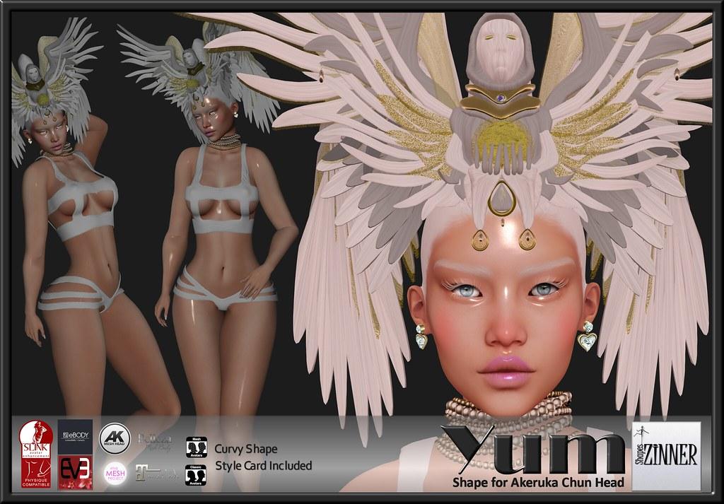 Zinner Shapes & Gallery - Yum Shape for Akeruka Chun Head