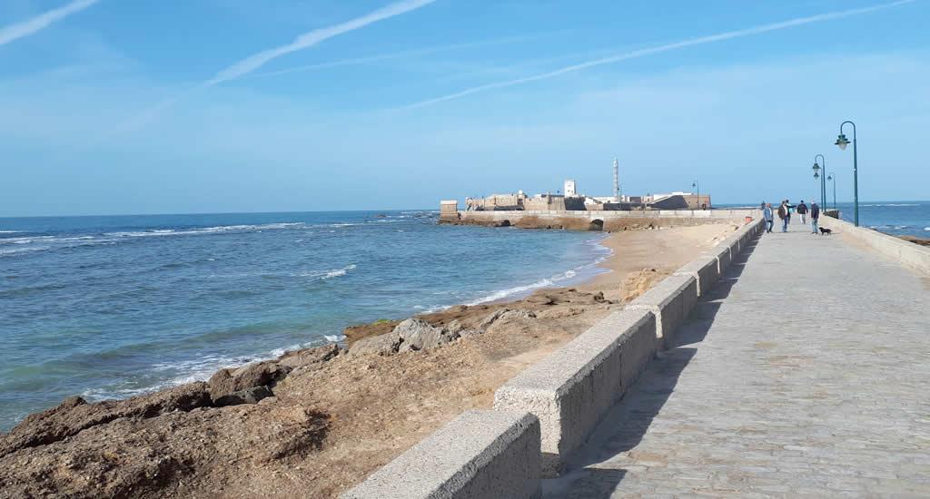 Bezienswaardigheden Cadiz: Castillo San Sebastian | Mooistestedentrips.nl