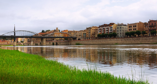 Day view of Ebre river in Tortosa
