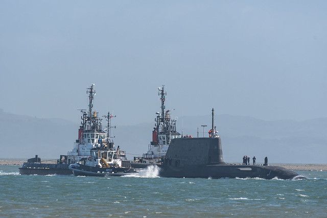 HMS Audacious (S122) Leaves Barrow-in-Furness for HMNB Clyde