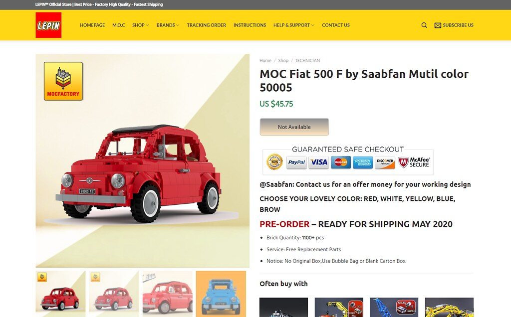 What. The. Hell? Lepin Fiat 500 F by Saabfan
