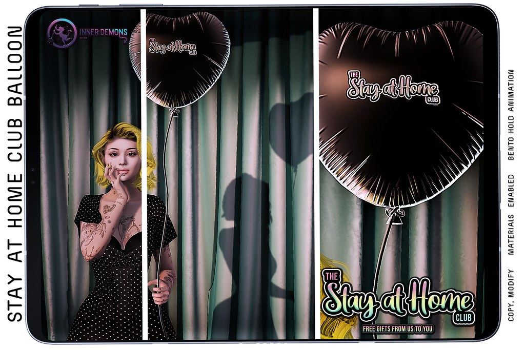 {ID} Stay At Home Club Balloon