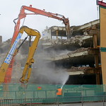 Tearing down the old Preston Market car park